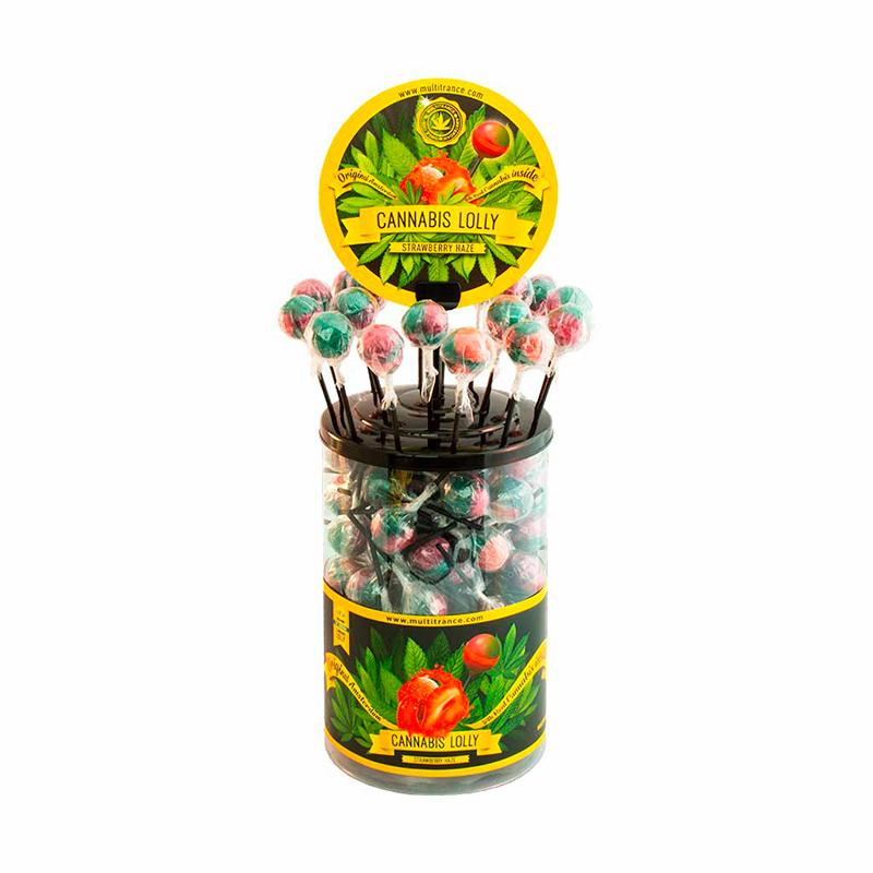 Sucette cannabis fraise